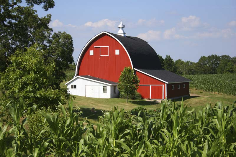 Istockphoto image of a farm, barn