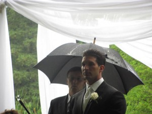 Vince Anxiously Awaits His Bride